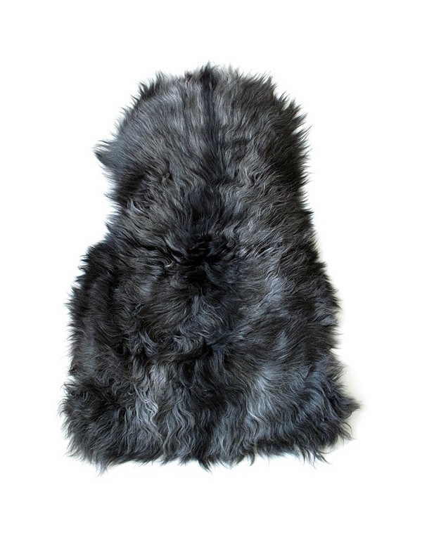 Dark Grey Icelandic Sheepskin Rug  Grey Sheepskin Rugs