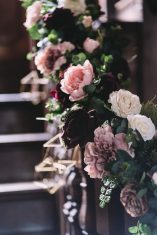 staircase flowers Sophie Oldhamstead Photography