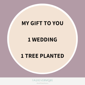 tree planting reduce carbon footprint for wedding event florist