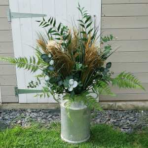 pampas grass milk churn hire