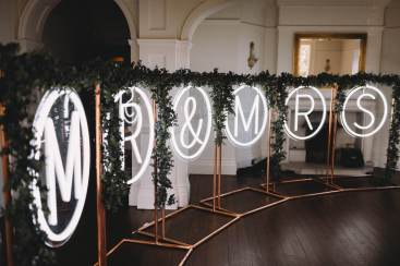 Neon light hire essex flower garlands
