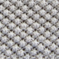 Blackberry Stitch, aka Trinity Stitch, in the Round