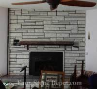 How To Remodel A Fireplace With Faux Stone Panels | The ...