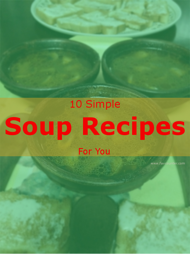 simple soup recipes banner