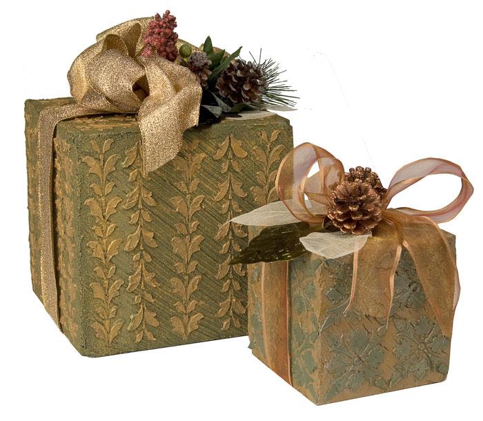 Textured Holiday Gift Box Decor  FaveCraftscom