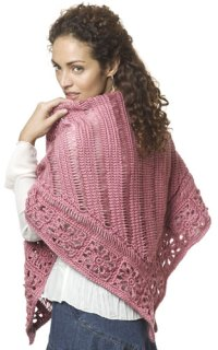 Broomstick Lace Shawl Crochet Pattern from Caron Yarn ...