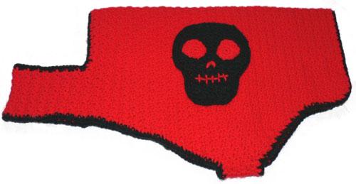Crochet Skull Dog Coat