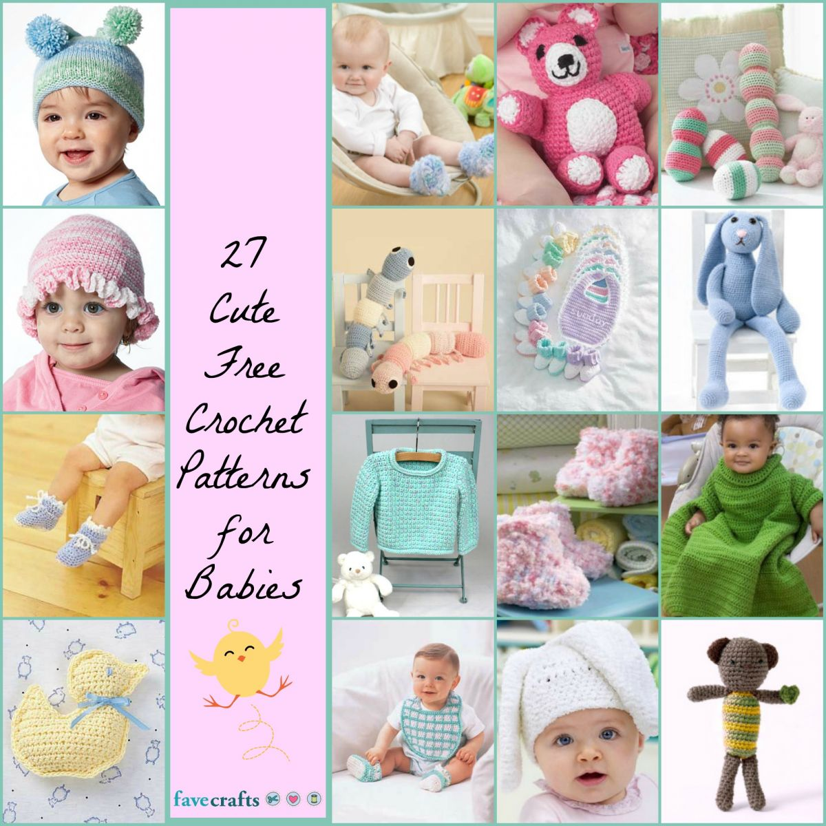16 Beautiful Crocheted Baby Blankets