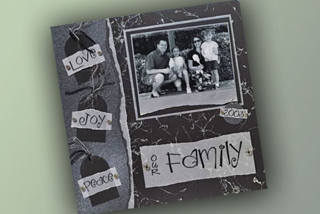 Our Family Scrapbook Layout