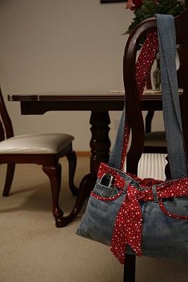 Finished Jeans Bag
