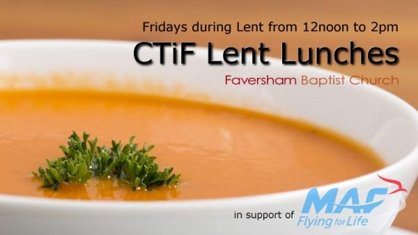 CTiF Lent Lunches 2018