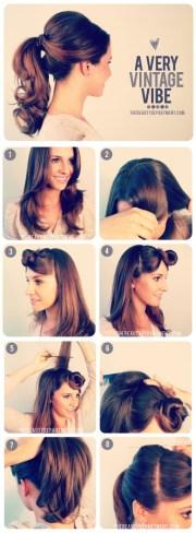 1950's inspired ponytail