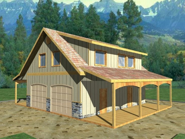 Barn inspired 4 car garage with apartment above  FaveThingcom
