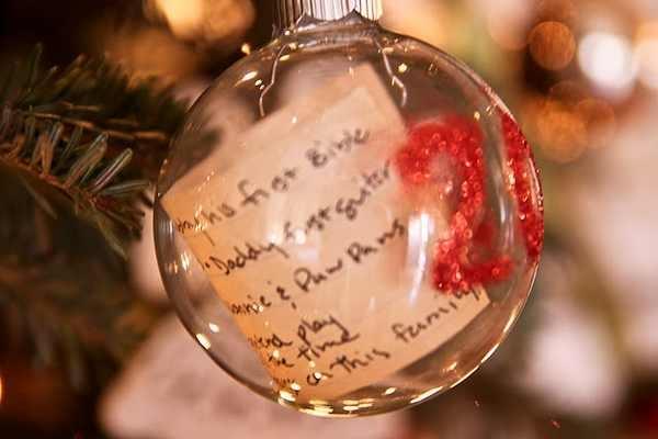 Christmas List Ornament Keepsake