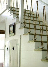Stair railing with ropes - FaveThing.com