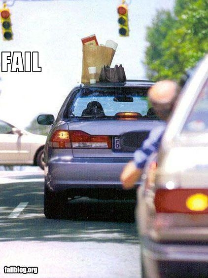 Fail Driving Off Having Left Your Stuff On The Roof Of