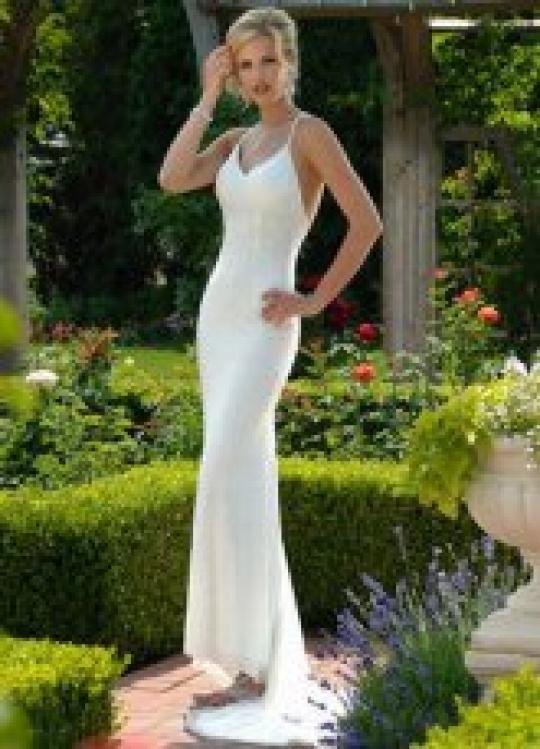 Sleek and Elegant Wedding Dress  FaveThingcom