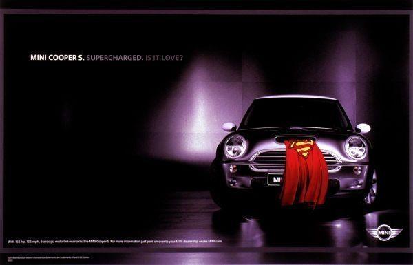 Mini Cooper S Superman ad  FaveThingcom