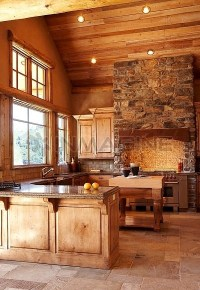 Rustic kitchen with vaulted ceilings - FaveThing.com