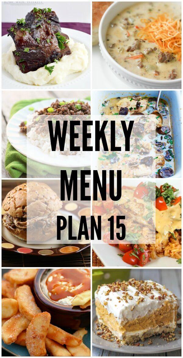 Weekly Menu Plan 15