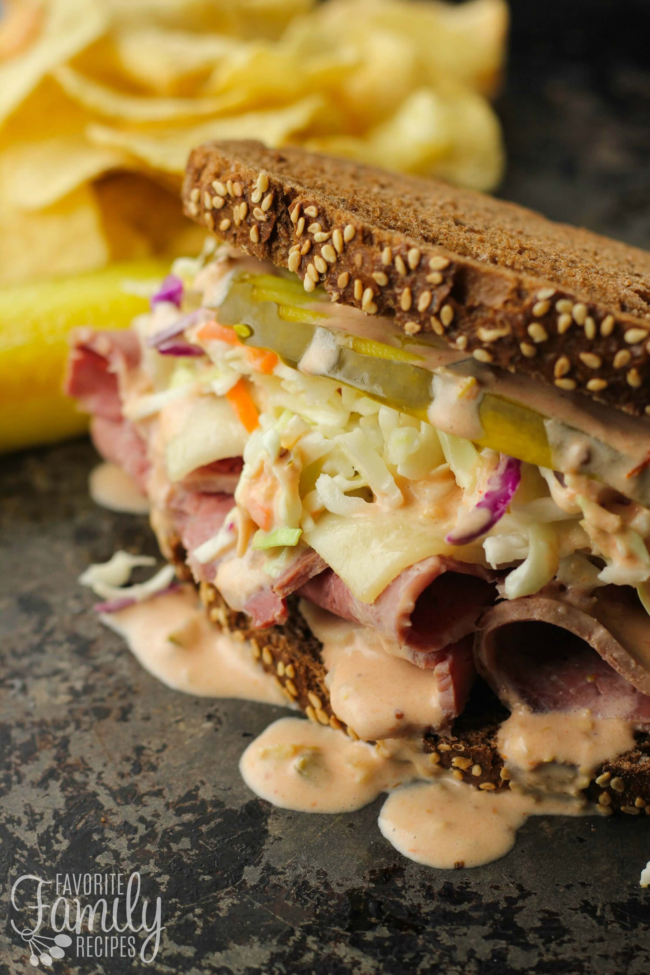 Corned Beef Sandwiches with Homemade Russian Dressing