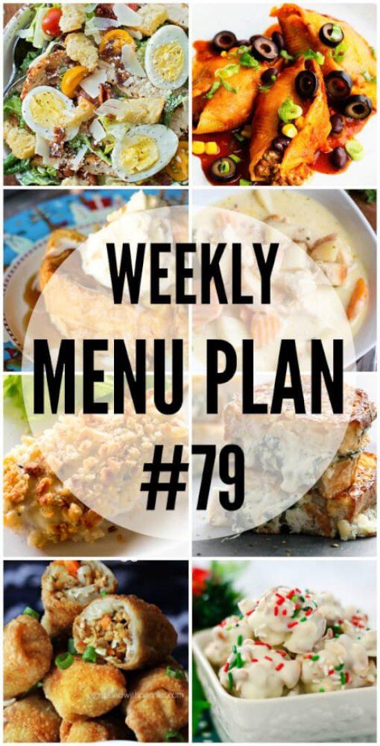 Weekly Menu Plan # 79