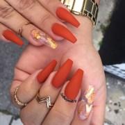 fall acrylic nails
