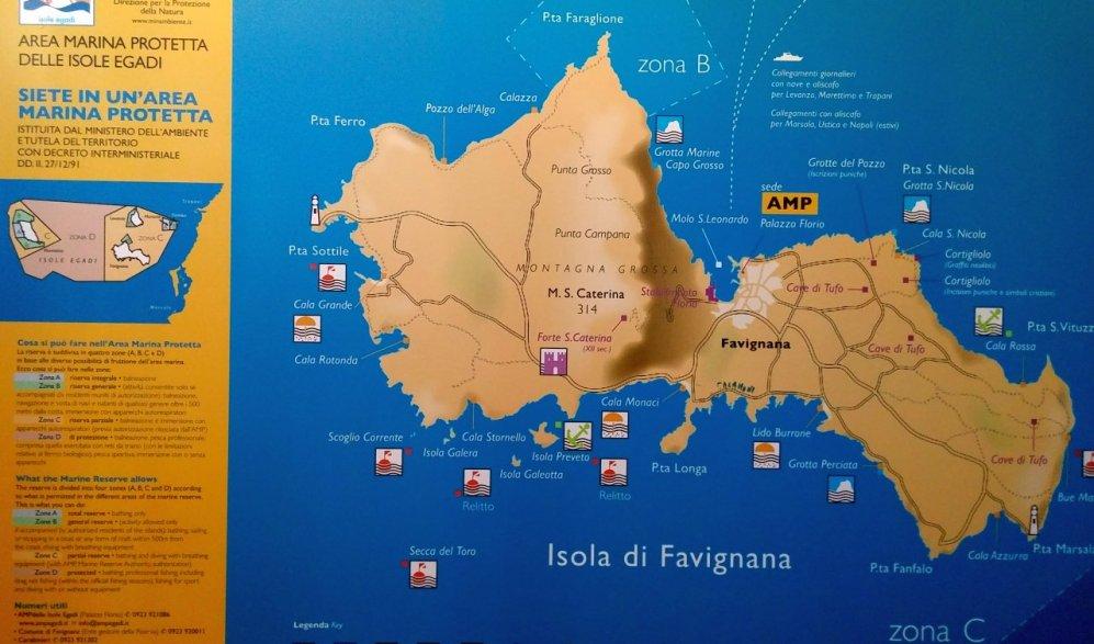 旅行地図ファヴィニャーナ
