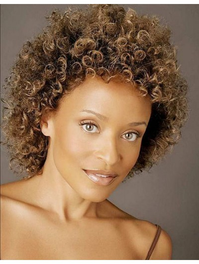 Simple Curly Hairstyles Wig For Natural Black Women African