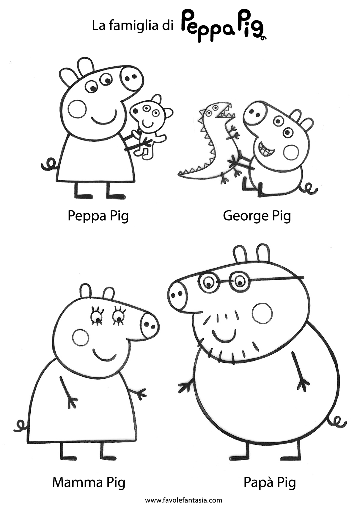 Family Finger Puppets Printable Sketch Coloring Page