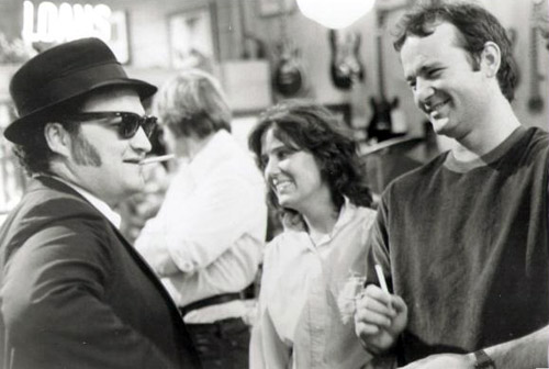 John-Belushi-and-Bill-Murray-on-the-set-of-Blues-Brothers