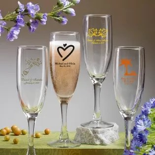 Personalized Champagne Flute Favors  Favor Favor