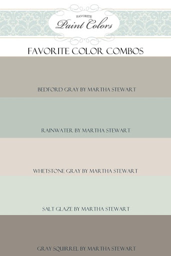 Paint Color Colour Combination For Bedford Gray