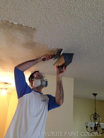 scraping popcorn ceilings
