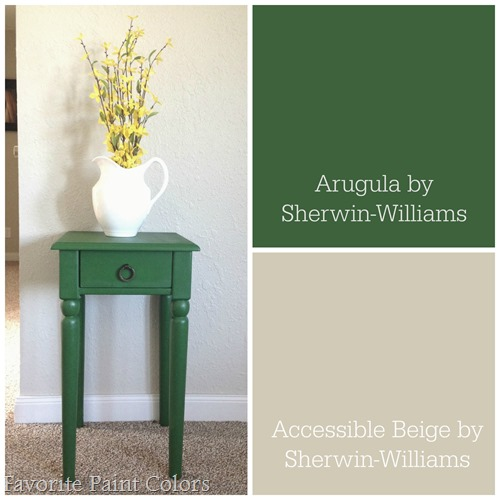Accent color for neutral walls
