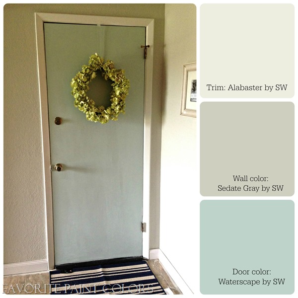 Downstairs door paint color with trim and walls