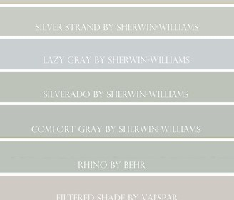 Top 10 Shades of Blue/Gray Paint Colors