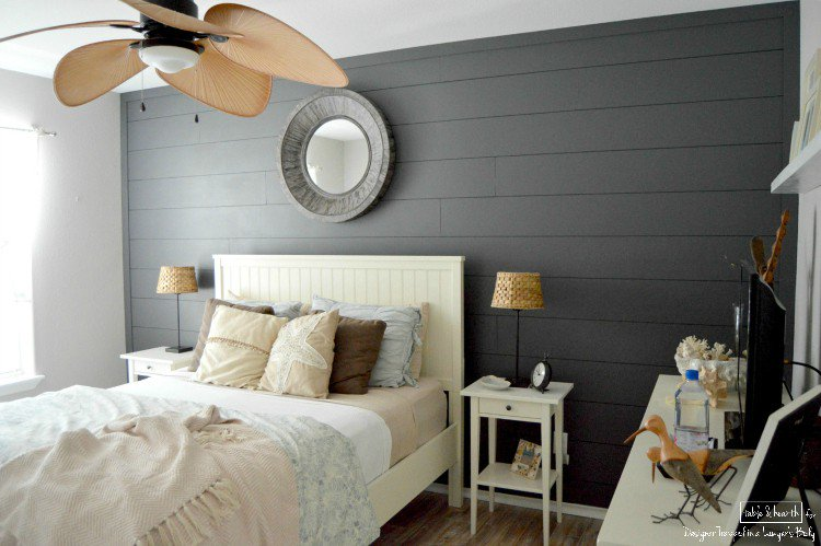 Diy Planked Wall Peppercorn Paint Color Favorite Paint