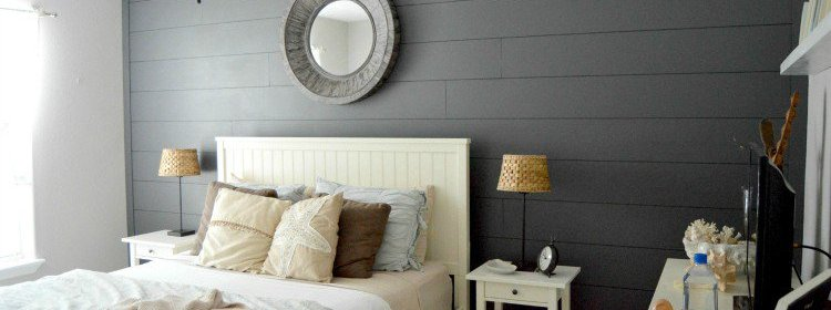 DIY Planked Wall {Peppercorn Paint Color}