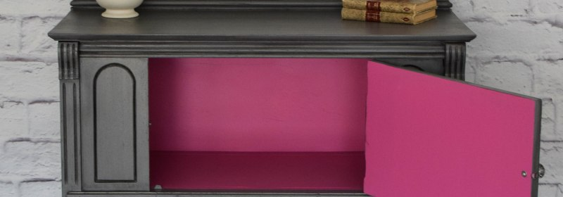 Gray and Pink Furniture Makeover