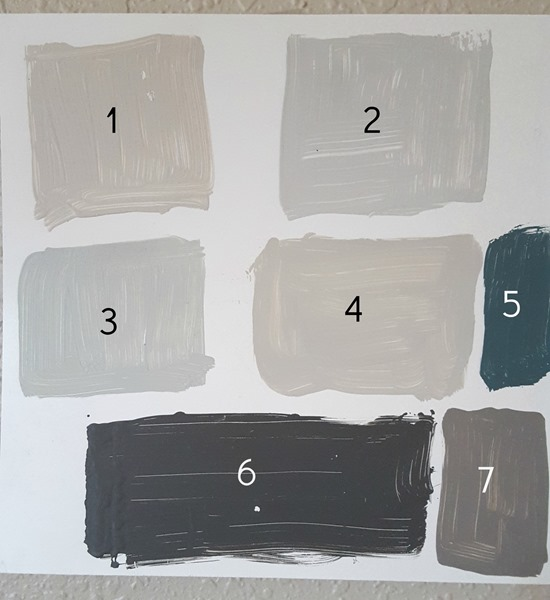 testing bathroom paint colors