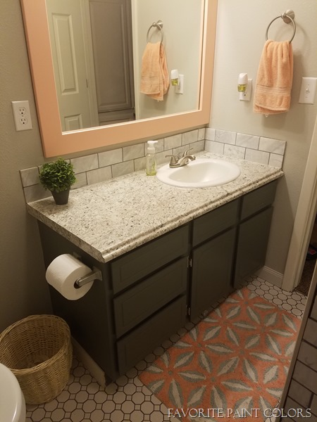 Framed mirror and vanity paint color - Favorite Paint Colors