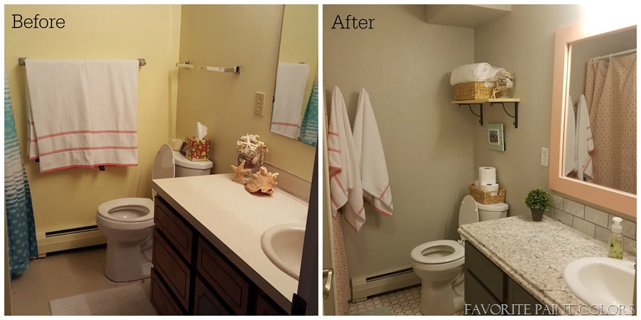 Girls bathroom before and after - Favorite Paint Colors