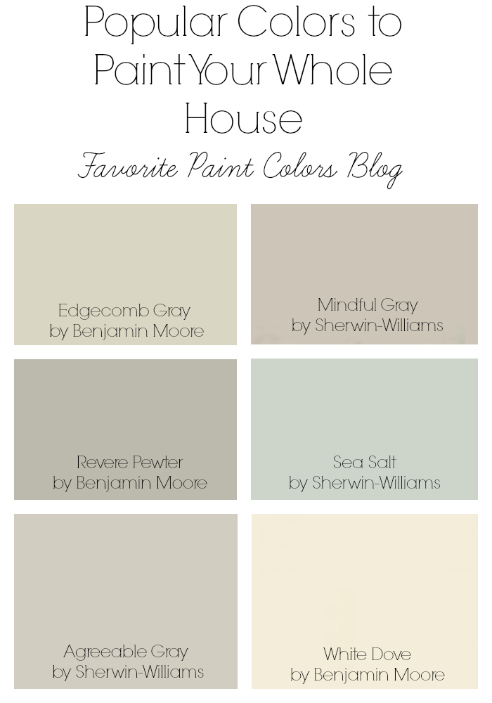 Colors to paint your whole house