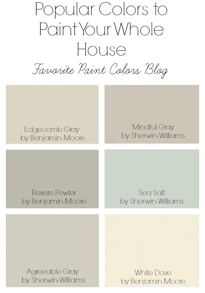 popular paint color and color palette ideas home bunch