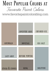 Top 10 Most Popular Paint Colors at FPC