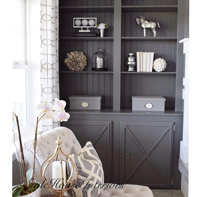 Kendall Charcoal built-ins