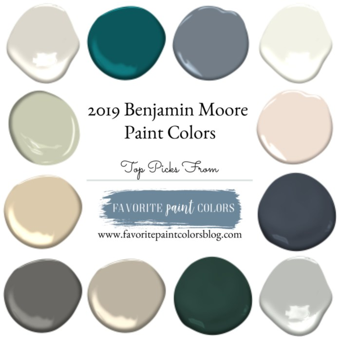 2019 Benjamin Moore Paint Colors
