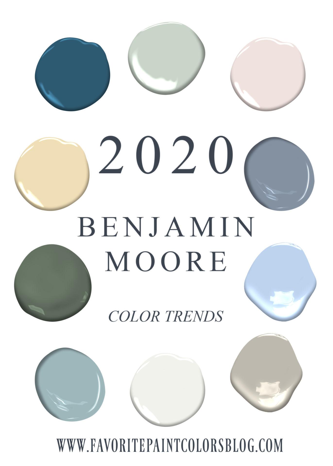 2020 Benjamin Moore Color Trends