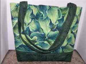 Quilted Hosta Tote Bag